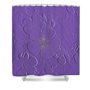 Embossed Bouquet  Shower Curtain