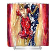 Embrace Of The Dance Shower Curtain