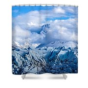 Embraced By Clouds Shower Curtain