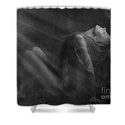 Embraced By The Light.. Shower Curtain