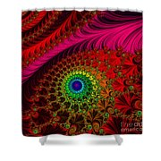 Embroidered Silk And Beaded Square Shower Curtain