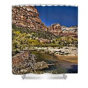 Emeral Pools Trail - Zion Shower Curtain