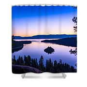 Emerald Bay Sunrise Shower Curtain