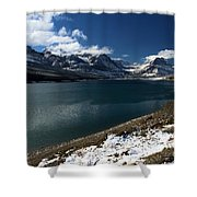 Emerald Blue Waters Shower Curtain