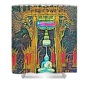 Emerald Buddha In Royal Temple At Grand Palace Of Thailand Shower Curtain
