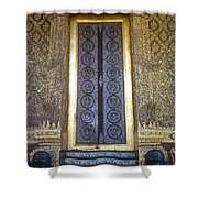 Emerald Buddha Temple Door Shower Curtain