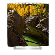 Emerald Canyon Shower Curtain