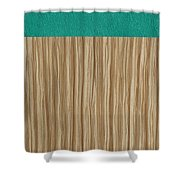 Emerald Cashmere Shower Curtain by Margaret Ivory