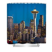 Emerald City Evening Shower Curtain