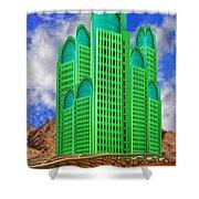 Emerald Desert Palm Springs Shower Curtain