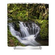 Emerald Falls Shower Curtain