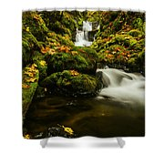 Emerald Falls In Columbia River Gorge Oregon Usa Shower Curtain