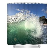 Emerald Flare Shower Curtain