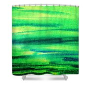 Emerald Flow Abstract I Shower Curtain
