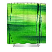 Emerald Flow Abstract IIi Shower Curtain
