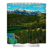 Emerald Lake - Yukon Shower Curtain