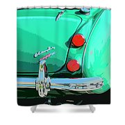 Emerald Palm Springs Shower Curtain