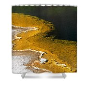 Emerald Pool Yellowstone National Park Shower Curtain