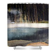 Emerald Pool Yellowstone Np 1928 Shower Curtain