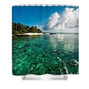 Emerald Purity. Kuramathi Resort. Maldives Shower Curtain