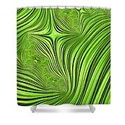 Emerald Scream Shower Curtain