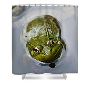 Emerging Green Shower Curtain by Christina Rollo