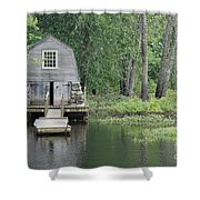 Emerson Boathouse Concord Massachusetts Shower Curtain by Amy Porter