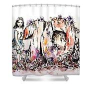 Emilee's World Shower Curtain