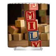 Emily - Alphabet Blocks Shower Curtain
