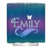 Emily Name Art Shower Curtain