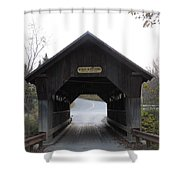 Emily's Bridge Stowe Vermont Shower Curtain