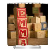 Emma - Alphabet Blocks Shower Curtain
