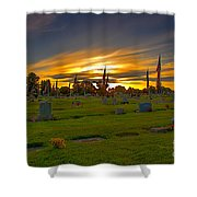 Emmett Cemetery Shower Curtain