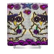 Emo Owls Shower Curtain