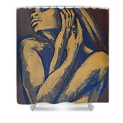 Emotional - Female Nude Portrait Shower Curtain