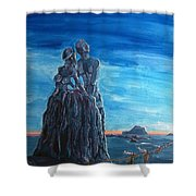 Emotional Fossils Shower Curtain