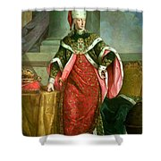 Emperor Francis I 1708-65 Holy Roman Emperor, Wearing The Official Robes Of The Order Of St. Stephan Shower Curtain