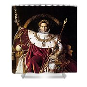 Emperor Napoleon I On His Imperial Throne Shower Curtain