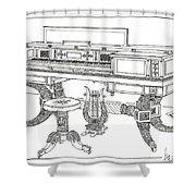 Empire Period Piano 1820 Shower Curtain