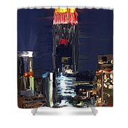 Empire State Buidling On The Water Shower Curtain
