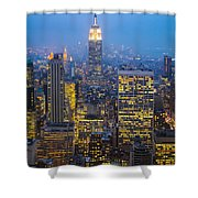 Empire State Building And Midtown Manhattan Shower Curtain