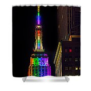 Empire State Building Lit For Gay Pride Shower Curtain