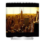 Manhattan And Empire State Building Shower Curtain