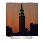 Empire State Building Saint Patricks Day Lighting I Shower Curtain
