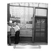 Employment Bureau, 1937 Shower Curtain