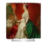 Empress Eugenie Of France 1826-1920 Wife Of Napoleon Bonaparte IIi 1808-73 Oil On Canvas Shower Curtain
