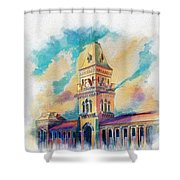 Empress Market Karachi Shower Curtain by Catf