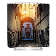 Empty Alley Shower Curtain