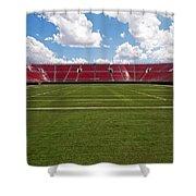 Empty American Football Stadium Shower Curtain