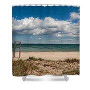 Empty Beach Shower Curtain